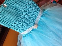 Elsa Frozen inspired crocheted tutu dress by Christineferraraccio, $54.00