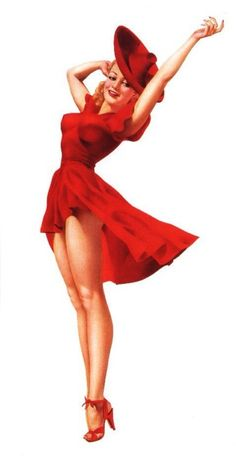 Lady in red..♪♫ Pin Up