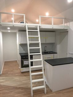 Se husmodell: LINNEA | Modulhus.se Bunk Beds, Loft, Furniture, Home Decor, Lofts, Double Bunk Beds, Interior Design, Home Interior Design, Arredamento