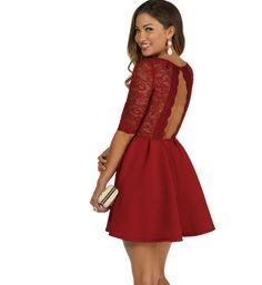 Burgundy It s Love Skater Dress at WindsorStore Windsor Clothing c6a10648f