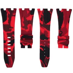 Red Camouflage Rubber Audemars Piguet 42mm Strap – Horus Straps