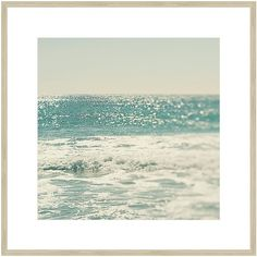 Blue Sea Framed Print ($210) ❤ liked on Polyvore featuring home, home decor, wall art, photographs, contemporary wall art, blue home decor, sea wall art, photo wall art and ocean wall art