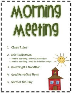 Starting Our Day With Morning Meeting