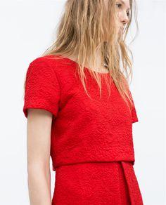 ASYMMETRICAL SKIRT JACQUARD DRESS-Dresses-Woman-COLLECTION SS15 | ZARA United States