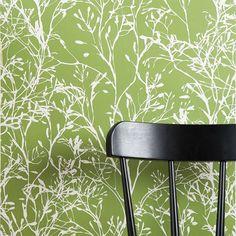 Wild Flower behang groen