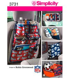 Simplicity Pattern 3731-Car Organizers-One Size: Accessory Patterns: sewing patterns: fabric: Shop | Joann.com
