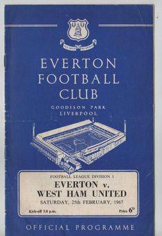 Football Flashback: Everton v. West Ham United, 25 February 1967 at Goodison Park. #EVEWHU