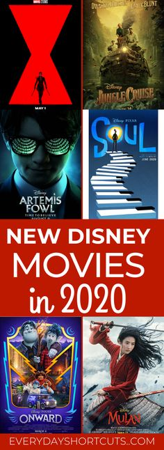 New Disney Movies Coming Out in 2020 - Everyday Shortcuts Disney Movies Coming Out, Upcoming Disney Movies, Great Disney Movies, Disney Tips, Disney Pixar, Movie List, I Movie, And Just Like That, Disney Pictures