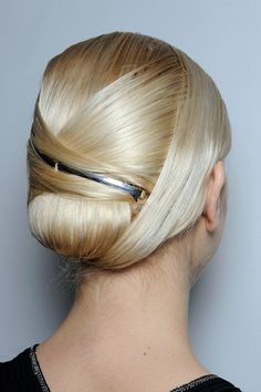Modern Origami hair up do, Jason Wu