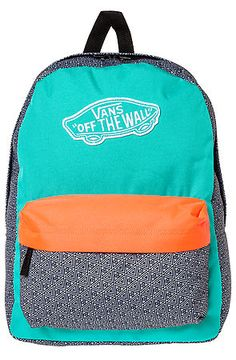 Vans - Orange The Realm Backpack Vans Backpack, Vans Bags, Cockatoo, Streetwear Fashion, Purses And Bags, Cool Style, Lunch Box, Coral, Backpacks