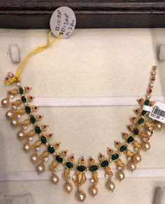 Gold Necklace Simple, Emerald Necklace, Green Necklace, Short Necklace, Simple Jewelry, Pearl Necklace, Bridal Jewelry, Gold Jewelry, Jewelry Sets