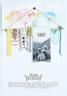 """Steffi Ried """"The Great Outdoors"""" #studiocalico #scrapbooking"""