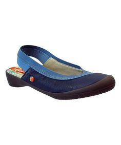 This Navy Slingback Leather Flat is perfect! #zulilyfinds