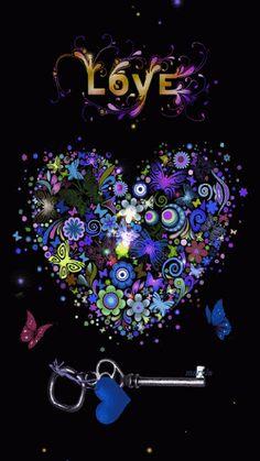 Accede a la galeria con imágenes de corazones de amor con movimiento, gifs animados que puedes ver, descargar y compartir gratis.