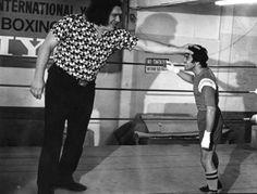 """André The Giant """"OBEY"""" The Giant (André René Roussimoff ), 224 cms de estatura y 240 kg de peso.     La popular imagen creada por Shepard Fairey en el proyecto OBEY The Giant se basa en la colosal figura de André el luchador profesional y actor nacido en francia, muy popular  en los 80´s, padecia de gigantismo, un transtorno en la glándula pituitaria."""