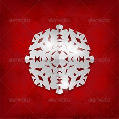 Paper Snowflake Background