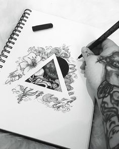Showcase and discover creative work on the world's leading online platform for creative industries. Tattoo Sketches, Tattoo Drawings, Art Sketches, Art Drawings, Pencil Drawings, Ink Illustrations, Illustration Art, Black And White Illustration, Pen Art
