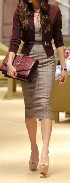 2. #Belted Dress - 44 #Professional and Sophisticated #Office Outfits You Will Love ... → #Fashion #Pants
