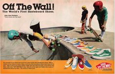 a81504c45c An old Vans ad. Vans OriginalVans Off The WallPrint ...