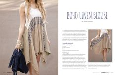 Altered Couture Summer 2014 - Stampington Boho Linen Blouse