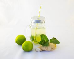 green ice tea with ginger Homemade Iced Tea, Iced Tea Recipes, Ethnic Recipes, Food, Graz, Health, Sun Tea Recipes, Meals, Yemek