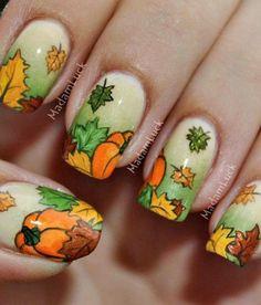 20 Fantastic Nail Designs for Thanksgiving: #2. Cute Nail Design For Thanksgiving