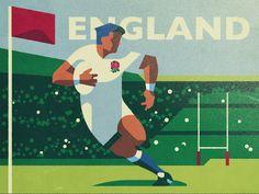 England Rugby by Fraser Davidson