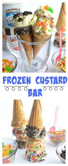 Frozen Custard Bar!