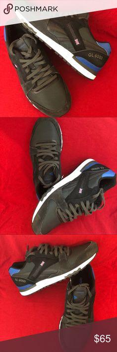 Shop Men s Reebok Black Blue size 11 Sneakers at a discounted price at  Poshmark. Description  GL 6000 ATHLETIC REEBOK CLASSIC Gravel Black Blue  White Men s ... 276e3aea7
