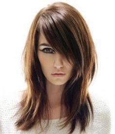 Medium hairstyles with side bangs
