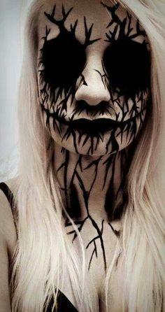 Scary Halloween make up Halloween Makeup #halloween #makeup