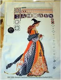 celtic ladies cross stitch - need to find the Autumn chart and convert it to this! It's a must make.