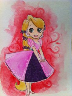 Cuz I'm in a new groove of drawing Whatever I Feel Like. Just work with me here. Disney Princess Rapunzel, Tangled Rapunzel, Disney Tangled, Disney Disney, Disney Princesses, Disney Character Drawings, Disney Movie Characters, Disney Movies, Disney Fan Art