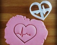 ECG Heart Beat Rhythm cookie cutter | EKG biscuit cookies cutters | Gifts for medical nursing doctor student students | one of a kind | ooak