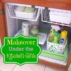 DIY Dollar Store Under The Sink Organization Makeover !