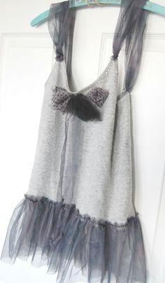 Cachemire orné Blend Sweater réservoir BoHo par OfLinenandLace, $32.00