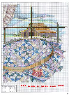 """January - Quilts For All Seasons"" by Paula Vaughan. Found on manualidades.facilisimo.com"