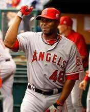 Torii Hunter, Los Angeles Angels of Anaheim, 4/30/2011. Hes my FAVVV!!!!
