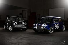 Vintage Mini Coopers Are The Perfect Light-Painting Companions