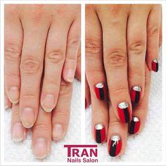 Before and after #trannails #nageldesign #nagelstudioerbach #nailart #wallofnails #gel #manicure