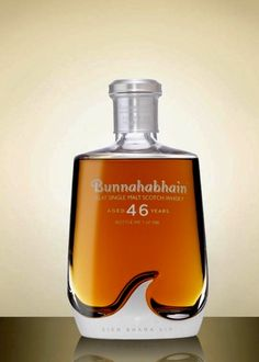 Bunnahabhain 46 Year Old Cigars And Whiskey, Scotch Whiskey, Whisky Club, Fine Wine And Spirits, Strong Drinks, Single Malt Whisky, Liquor Bottles, Bottle Design, Root Beer