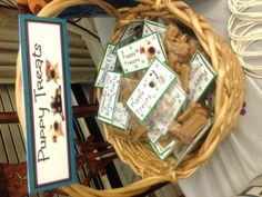 A basket of Puppy Treats