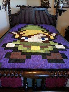 Legend of Zelda Pixel Art Blanket via Reddit user Daphonic