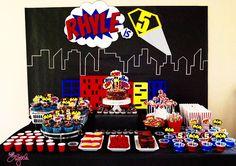 he{ART} Lyttle: Superhero party | dessert table