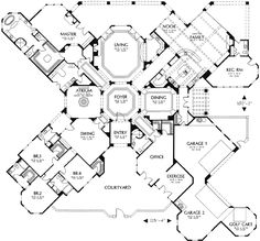 Unique House Plans lovely unique house plans unique small house floor plans Hacienda Style Homes Spanish Hacienda Floor Plans Unique House Plans House Plans I Love Pinterest Camping Storage Style And In Law Suite
