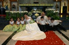 with the flower girls and page boys