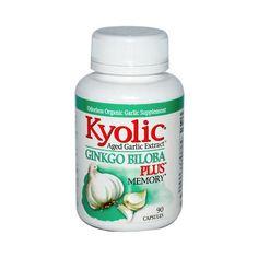 Kyolic Aged Garlic Extract Ginkgo Biloba Plus Memory 200 Mg (90 Capsules)
