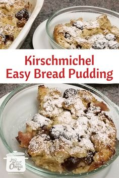 NEW RECIPE: and sooooo sooooo goooood!  A type of bread pudding, only better. Very traditional in certain parts of Germany. You'll make this on often.