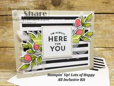 Stampin\' Up! Lots of Happy All Inclusive Card Kit created by Kay Kalthoff with #stampingtoshare Includes how to video.