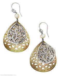 Silpada Mother-of-Pearl & Sterling Silver Earrings